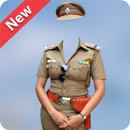 Women Police Photo Suit Editor