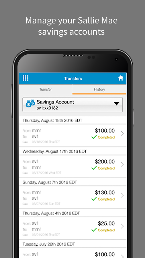 Sallie Mae® Banking- screenshot
