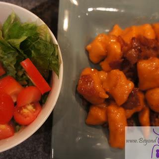 Sweet Potato Gnocchi with Maple Bacon Sauce