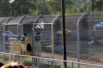 Photo: He asked me to shoot the checkered flag