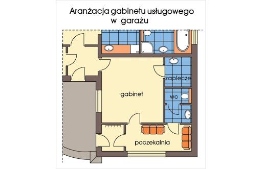 Arabella II wersja A - Rut garażu - aranżacja