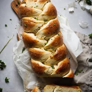 Garlic Challah Bread.