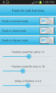 Flash on call and sms screenshot