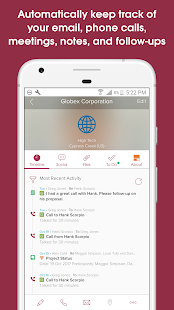 Cloze Relationship Management Screenshot