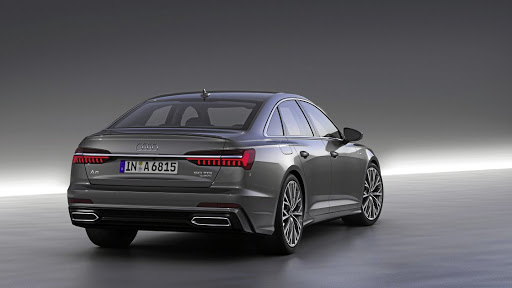 The rear gets even more of an executive look together with trick lighting options. Picture: AUDI