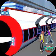 Real Futuristic Elevated Sky Tram Train Simulator