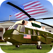 USA Presidential Helicopter SIM 3d: Heli Parker