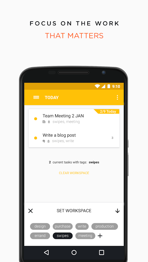 Swipes - Plan & Achieve Tasks- screenshot
