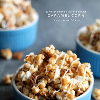 White Chocolate Pecan Caramel Corn