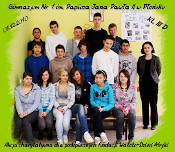 Photo: Akcja charytatywna dla podopiecznych fundacji Watoto-Dzieci Afryki - Gimnazjum nr 1 w Płońsku