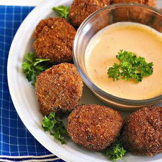 Easy Bite Size Crab Cake Appetizer.
