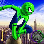 Spider Stickman Rope Hero 2 - Gangster Crime City