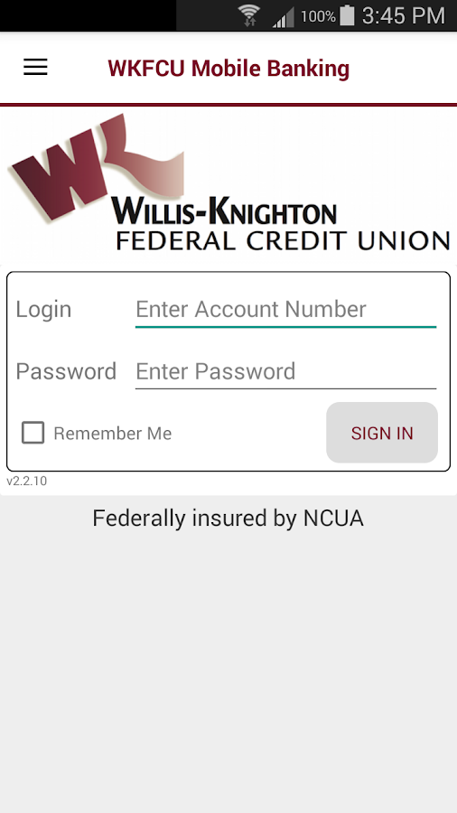 WKFCU Mobile Banking- screenshot