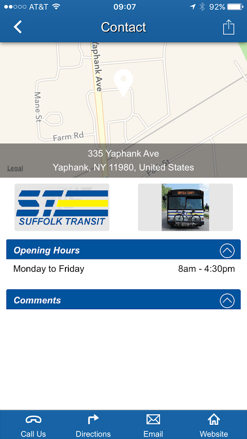 Suffolk County Transit- screenshot