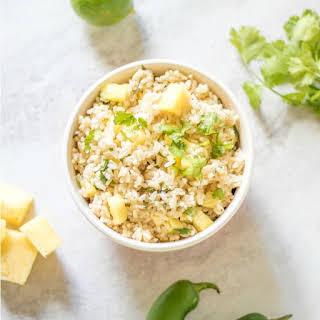 Pineapple Cilantro Lime Rice.