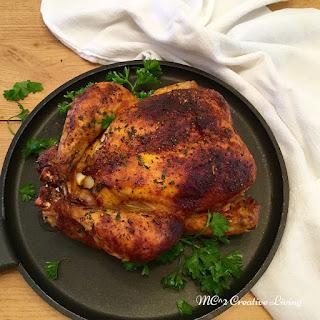 Mustard Brown Sugar Roasted Chicken