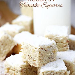 Russian Teacake Squares.