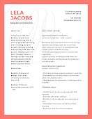 Lela P. Jacobs - Resume item