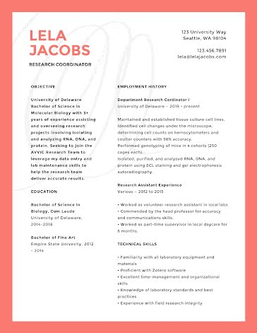Lela P. Jacobs - Resume Template