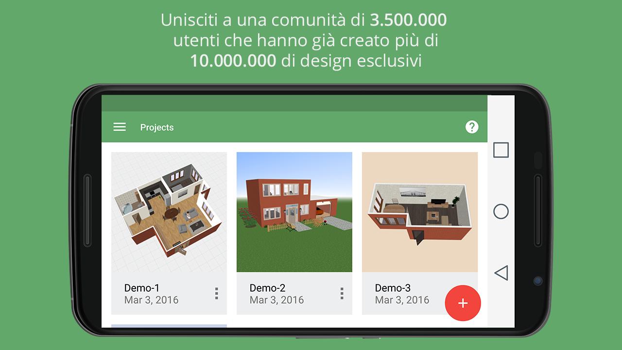 Planner 5d design d 39 interni app android su google play for Planner casa gratis