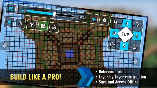 MCProApp build companion, blueprints for Minecraft 2.1.0 screenshots 2