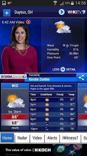 WHIO Weather screenshot