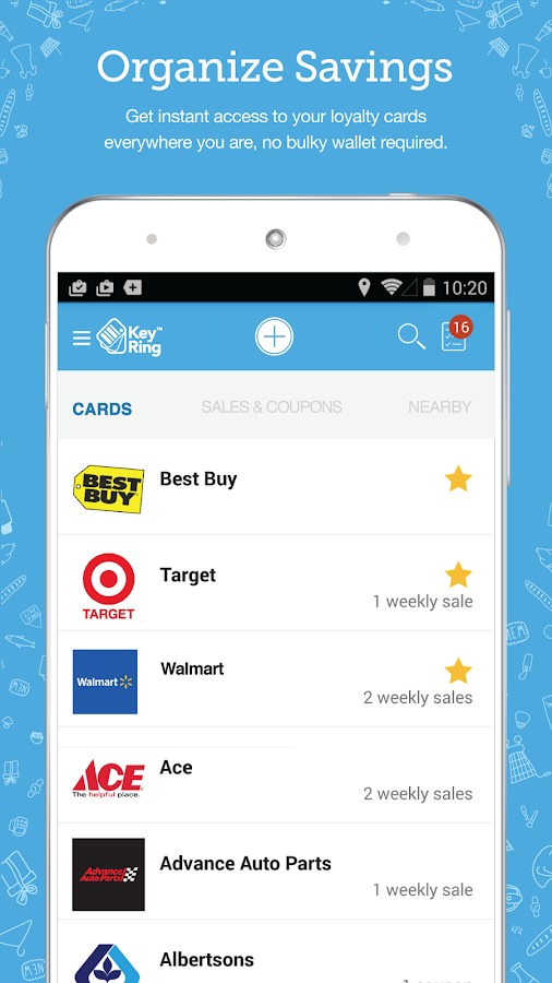 Key Ring: Cards Coupon & Sales- screenshot