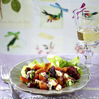 Goat Cheese, Beet and Carrot Salad
