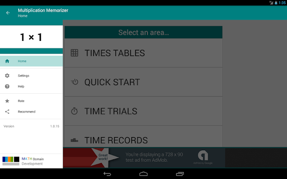 Multiplication Memorizer apk screenshot