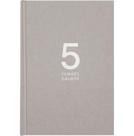 5-årsdagbok  Linne grå