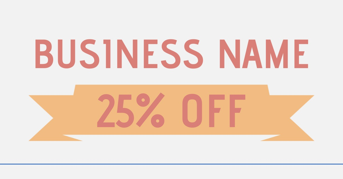 coupon template with banner