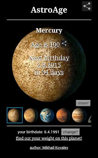 Astronomical Age pro