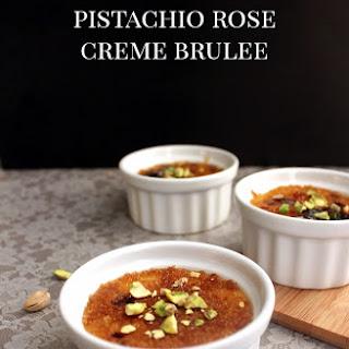 Pistachio Rose Creme Brulee.