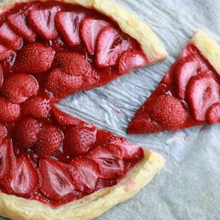 Strawberry Rhubarb Tart.
