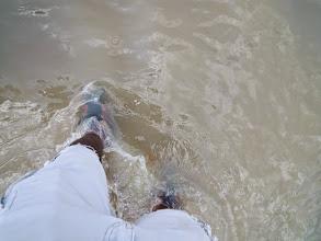 Photo: Visit to Hope Eden Village 2014. Wet feet!