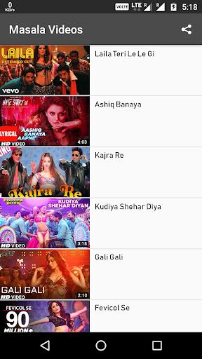 Hot Masala Videos : Bollywood item songs Hindi 1.107 screenshots 1