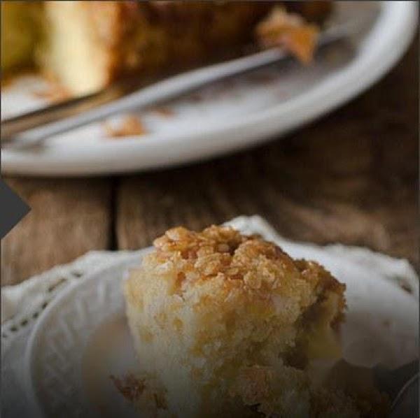 Upside Down Peach Crumb Cake Recipe