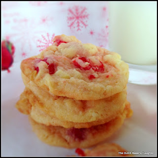 Cherry-White Chocolate Chunk Cookies (adapted from DeeDee Pierce)