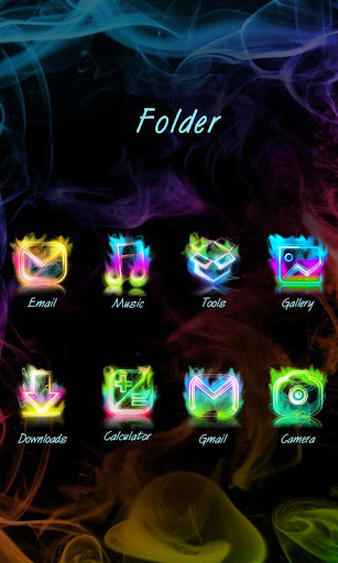 Smoke Colors GO Launcher Theme Screenshot