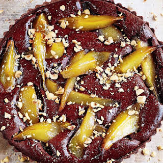 Jamie Oliver's Vin Santo and pear chocolate tart.