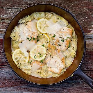 Lemon Chicken with Artichokes.