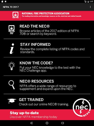 NFPA 70 2017 Edition screenshot
