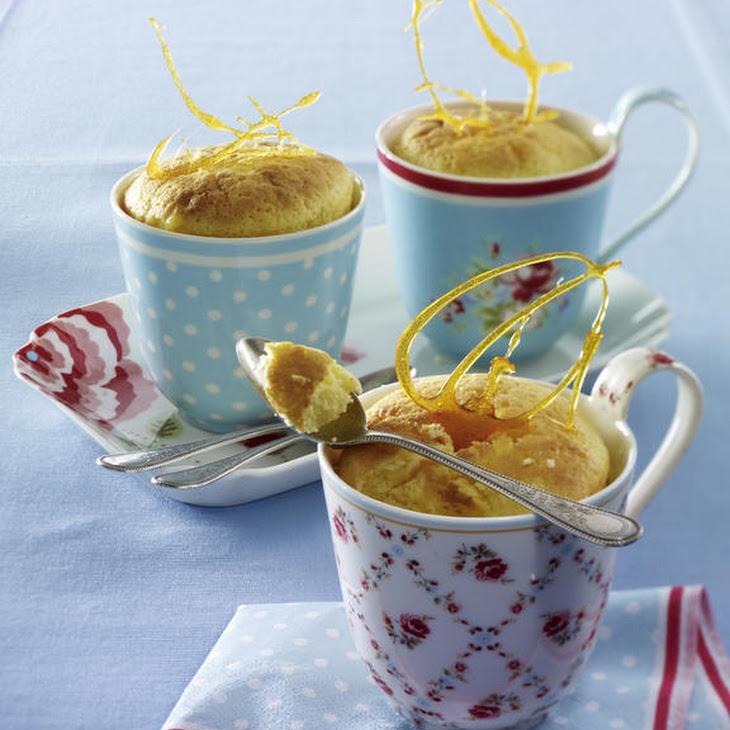 Lemon Custard with Caramel Brittle