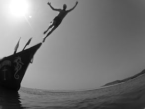 Photo: jump off that boat! :)