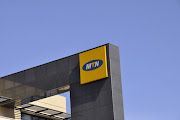 MTN sign in Sandton, Johannesburg.