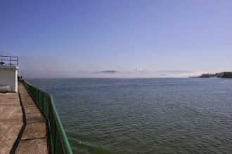Photo: Fog on the sound with Mt. Baker in the distance