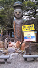 Photo: Day 4: This is another statue on the outside of the equator line museum. It shows the latitude being 0'0'0'.