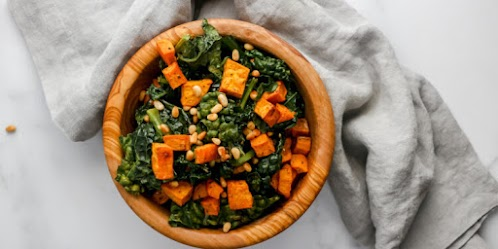 Roasted Sweet Potato & Kale Fall Salad