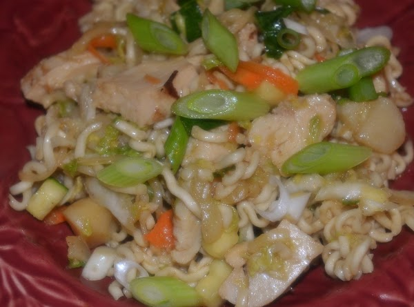 Warm Asian Chicken Ramen Salad Recipe