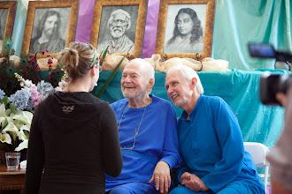 Photo: Barbara: Swami & Jyotish, Ananda ashram in LA, 2010